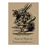 Alice in Wonderland, Gender Reveal Baby Shower Personalized Invitation Cards