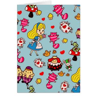 Alice In Wonderland Gifts Fashion Decor Custom Card