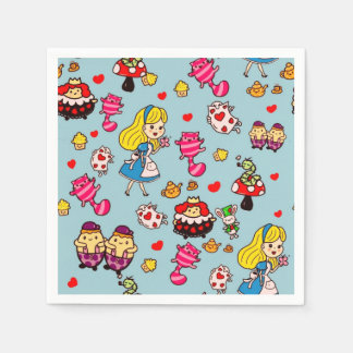 Alice In Wonderland Gifts Fashion Decor Custom Napkin