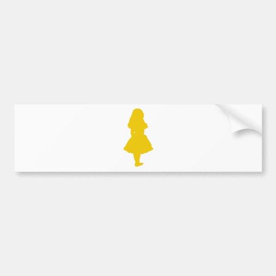 Alice In Wonderland Gold Yellow Orange Bumper Sticker