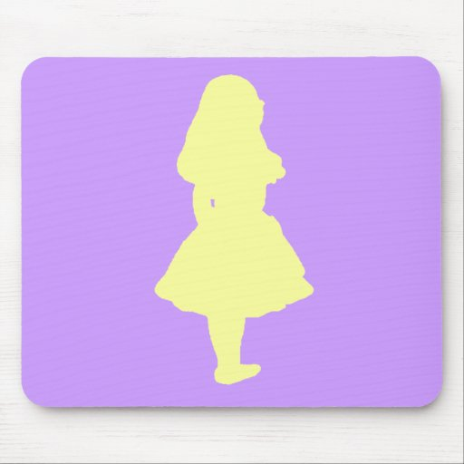 Alice In Wonderland Gold Yellow Orange Mouse Pad