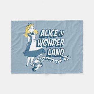 Alice in Wonderland - Goodness Me Fleece Blanket