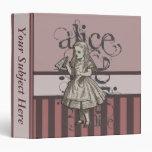Alice In Wonderland Grunge Binders