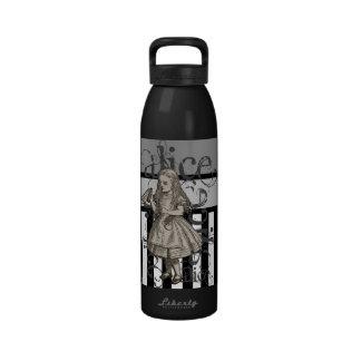 Alice In Wonderland Grunge Black White Water Bottles