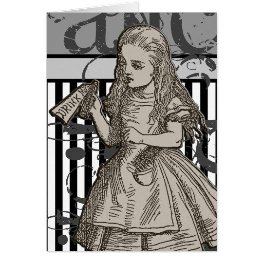 Alice In Wonderland Grunge Card