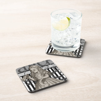Alice In Wonderland Grunge Drink Coaster