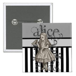 Alice In Wonderland Grunge Pinback Button
