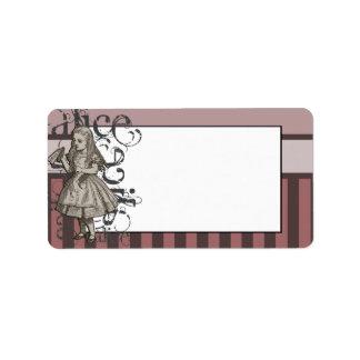 Alice In Wonderland Grunge (Pink) Address Label