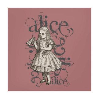 Alice In Wonderland Grunge (Pink) Canvas Print