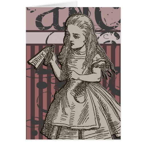 Alice In Wonderland Grunge (Pink) Cards
