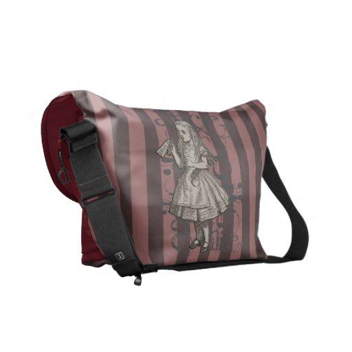 Alice In Wonderland Grunge (Pink) Courier Bag