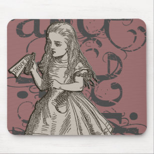 Drink Me Alice In Wonderland Mouse Pads Zazzle
