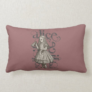 Alice In Wonderland Grunge (Pink) Pillow
