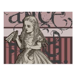 Alice In Wonderland Grunge Postcard