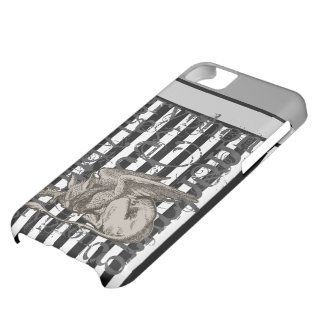 Alice In Wonderland Gryphon Grunge Cover For iPhone 5C
