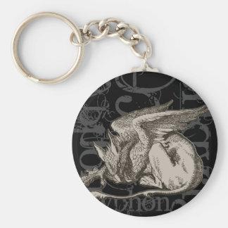 Alice In Wonderland Gryphon Grunge Key Chains