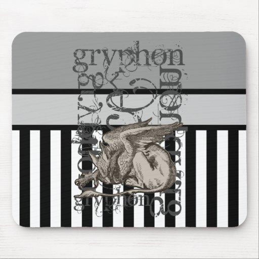 Alice In Wonderland Gryphon Grunge Mouse Pad