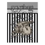 Alice In Wonderland Gryphon Grunge Postcard