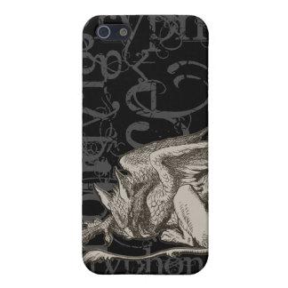Alice In Wonderland Gryphon Grunge (Single Figure) Case For iPhone SE/5/5s