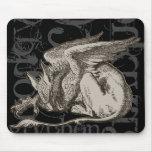 Alice In Wonderland Gryphon Grunge (Single Figure) Mouse Pad