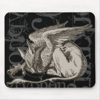 Alice In Wonderland Gryphon Grunge (Single Figure) Mouse Pad