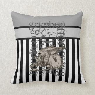 Alice In Wonderland Gryphon Grunge Throw Pillows