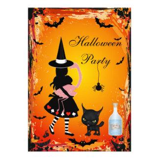 Alice in Wonderland Halloween Party Invites