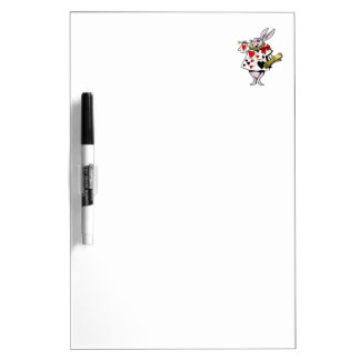 Alice in Wonderland Hare, Card and trumpet - Tale Dry Erase Board
