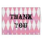 alice in wonderland harlequin thank you card