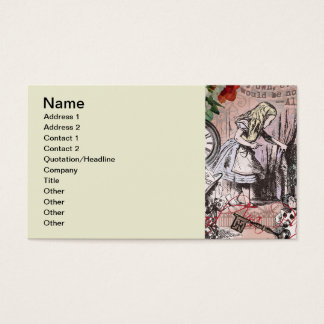 Alice in Wonderland Hatter and Rabbit Business Card