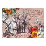 Alice in Wonderland Hatter and Rabbit Card