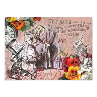 Alice in Wonderland Hatter and Rabbit Card