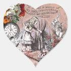 Alice in Wonderland Hatter and Rabbit Heart Sticker