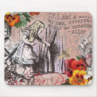 Alice in Wonderland Hatter and Rabbit Mouse Pad