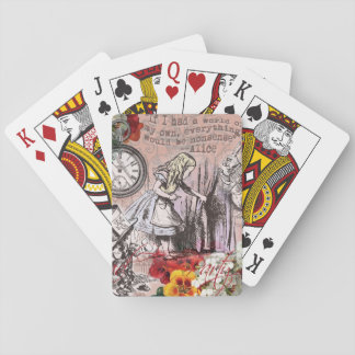 Alice in Wonderland Hatter and Rabbit Playing Cards