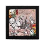 Alice in Wonderland Hatter and Rabbit Trinket Boxes