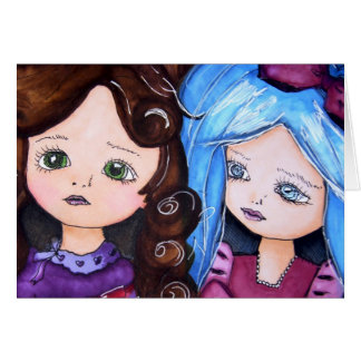 Alice in Wonderland & her Little Sister Pip Card