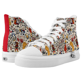Alice in Wonderland High-Top Sneakers