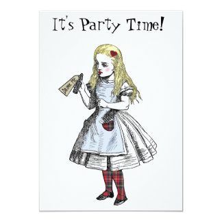 Alice in Wonderland Hogmanay Party Invitation Card