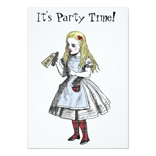 Alice in Wonderland Hogmanay Party Invitation Card
