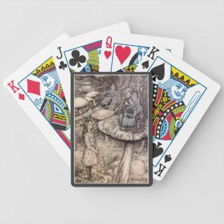 Alice in Wonderland Hookah Smoking Caterpillar Bicycle Playing Cards