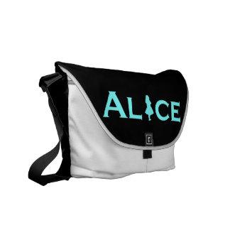 Alice in Wonderland in Baby Blue Courier Bag