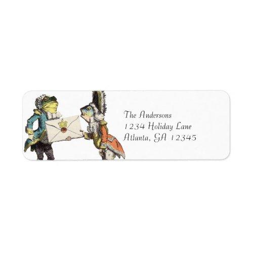 Alice In Wonderland Invitation Return Address label