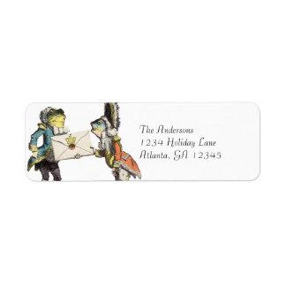 Alice In Wonderland Invitation Return Address Return Address Label