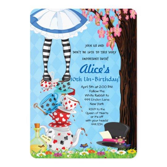 Alice In Wonderland Invitations Zazzle Com