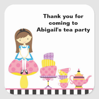 Alice in Wonderland Invitations Stickers