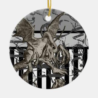 Alice In Wonderland Jabberwocky Grunge Christmas Ornament