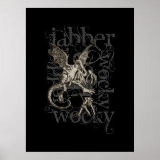 Alice In Wonderland Jabberwocky Grunge (Single) Poster