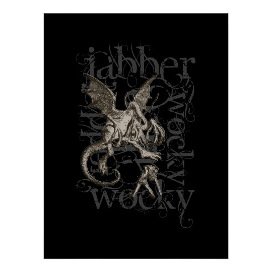 Alice In Wonderland Jabberwocky Grunge (Single) Poster