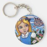 Alice in wonderland keyring key chain